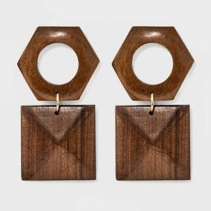 a new day // WOOD EARRINGS